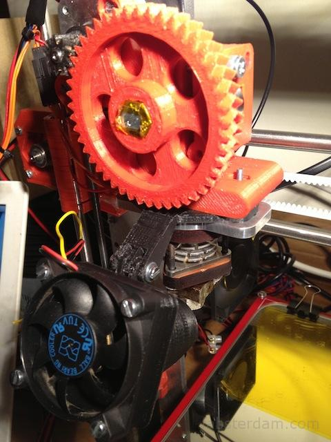extruder with fan