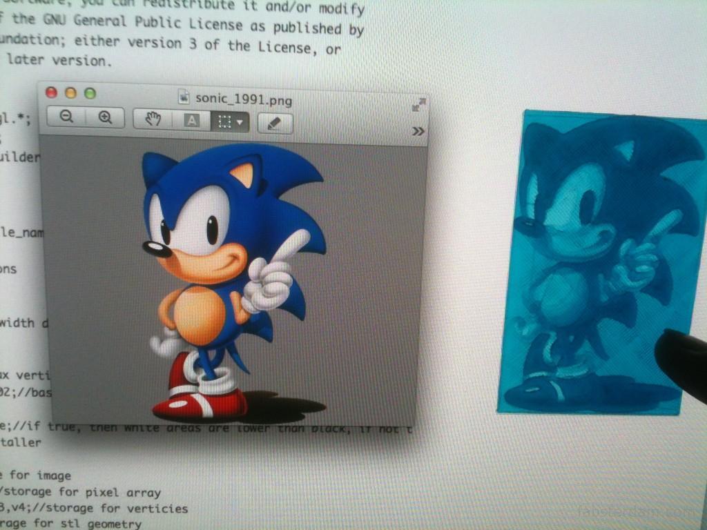 Sonic lithophane
