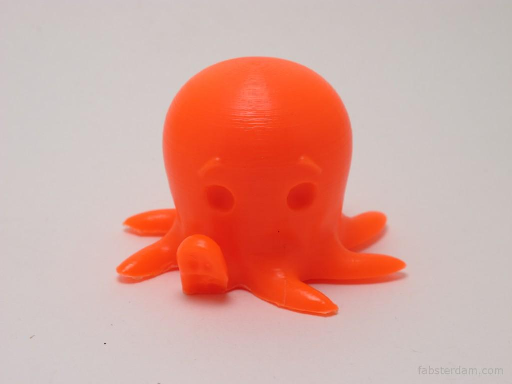 Fluorescent orange octopus